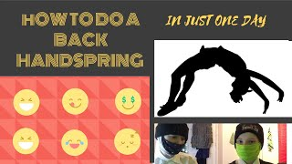 How To Learn A Back Handspring In ONE day!
