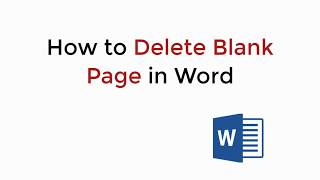 How to Delete Blank Page in Word 2019/2016/2013