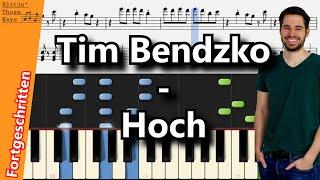 Tim Bendzko   Hoch | Piano Tutorial | German