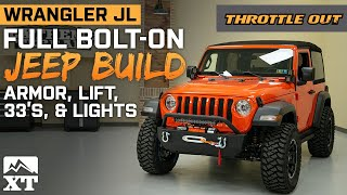 Jeep Wrangler Sport Build | JL Sport Gets Lifted, 33s, And Armor - Throttle Out