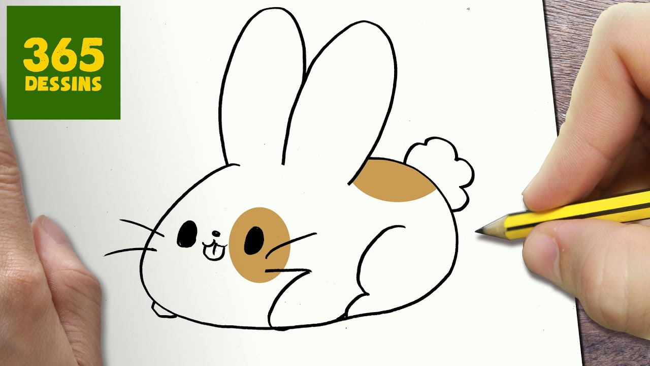 Video Comment Dessiner Lapin Kawaii Etape Par Etape Dessins Kawaii