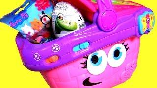 Talking Picnic Basket SURPRISE by Leap Frog - PeppaPig TRON Mashems, Good Dinosaur, TsumTsum Toys
