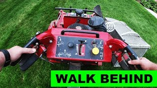 How to use a walk behind, and How to injure yourself using a walk behind
