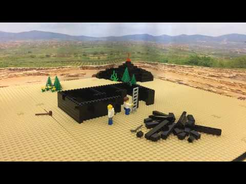 How to build in LEGO...a volcanic rock house - stop-frame animation