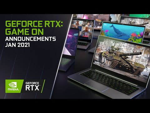 NVIDIA Announces RTX 3060 with RTX 30 Series Laptops at CES 2021
