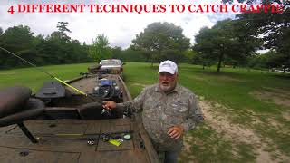 HOW TO CATCH CRAPPIE   4 SUMMERTIME TECHNIQUES