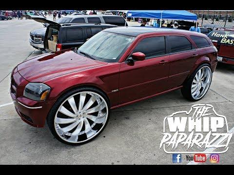 "SRT Dodge Magnum on 32"" Amani Forged Wheels Streetwhipz Mega Show"