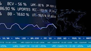 Royalty Free Stock Footage   Stock exchange   share market stock value display screen   free footage