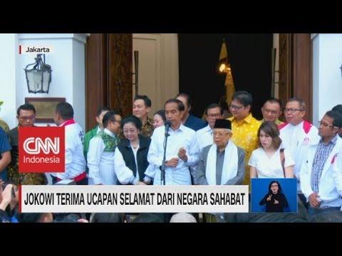 Jokowi Mengaku Terima Ucapan Selamat Dari Negara Sahabat