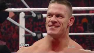 WWE Сина побил КЕЙНА 30.01.2012русс,озв от 545TV