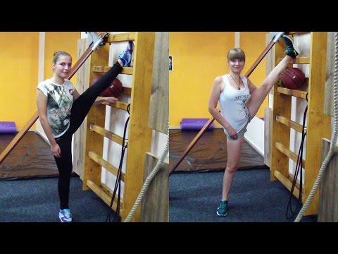 Аня (14 лет) и Лиля (15 лет). Тренировка в тренажерном зале для девушек