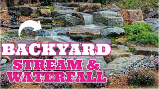 Perfect Backyard STREAM & WATERFALL | Patio Falls
