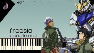Freesia // フリージア [(Uru)] [Iron-Blooded Orphans ED 4] | Synthesia Piano Tutorial