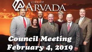 Preview image of Arvada City Council Meeting -  Feb 4, 2019