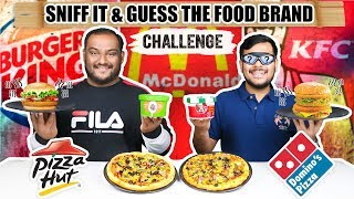 SNIFF IT & GUESS THE FOOD BRAND CHALLENGE   Guess The Food Challenge   KFC Food Challenge
