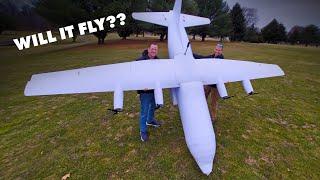 Will it fly?   15-Foot C-130 Hercules Cargo Plane? 😱