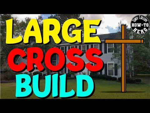 Huge Wooden Cross Build   Church   Christmas   Easter