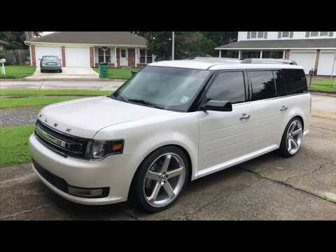 Ford Flex Lowered on BC Racing Coilovers & 22s
