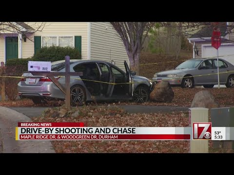 Drive-by shooting and chase in Durham