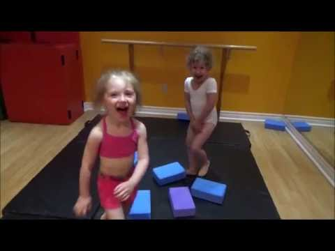 Fun and effective exercises to develop motoric skills for kids using yoga blocks