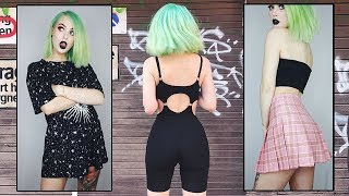 Try On Clothing Haul EDGY & CUTE | Evelina Forsell