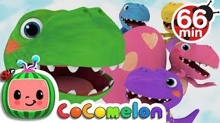 Five Little Dinosaurs | +More Nursery Rhymes & Kids Songs - Cocomelon (ABCkidTV)
