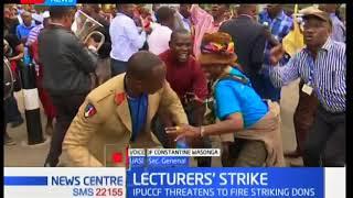 UASU Sec Gen Constatine Wasonga talks on the ongoing Don's strike as CS Amina plans a meet