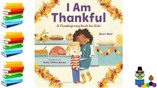 I Am Thankful - Thanksgiving Kids Books