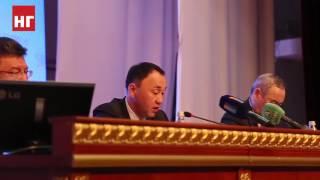 Аким Архимед Мухамбетов со сцены уволил акима селькского округа Железнодорожный Оралбаева Мираса