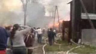 preview picture of video 'Pożar w Nowej Białej 2009 rok'