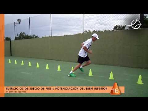 PÁDEL - JUEGO DE PIES - CONOS - Coordinación y agilidad #01