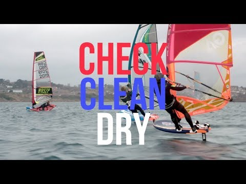 Windsurf – Check Clean and Dry – Prevent the spread of Invasive Species