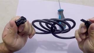 How to UNLOCK cable BIKE LOCK without combination AND how to CHANGE your lock COMBINATION