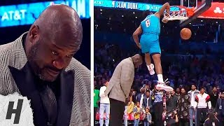 Hamidou Diallo SUPERMAN ELBOW Dunk Over Shaq | 2019 NBA All Star Dunk Contest   Round 2