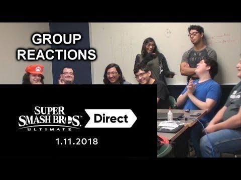 Super Smash Bros. Ultimate: 11.1.2018 Direct Reactions! (видео)