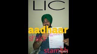 LIC Aadhaar Shila & Aadhaar Stambh Full Detail
