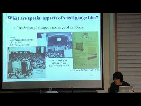 "Presentation: ""Aspects of Small-Gauge Film Culture in Prewar Japan"" by Professor Mika Tomita"