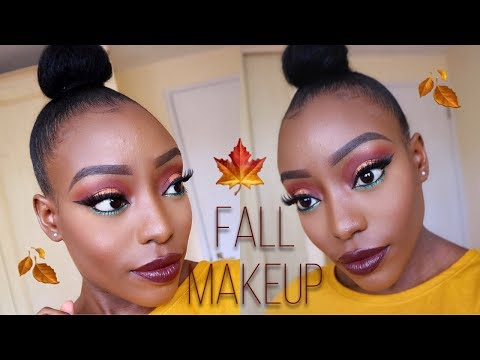 FALL MAKEUP WITH A POP OF COLOUR