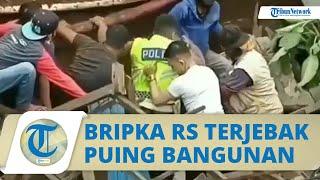 Video Detik-detik Pos Polisi di Depok Roboh, Bripka RS Sempat Terjebak di Puing-puing Reruntuhan