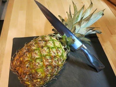 Wie schneidet man eine Ananas? - How to cut a pinapple?(German) - Dani Zed