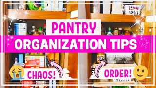PANTRY ORGANIZATION + TOUR | 10 TIPS FOR AN ORGANIZED PANTRY | ORGANIZE WITH ME | SPRINT CLEANING