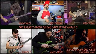 the biggest shred collab song in the world II (2018)