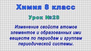 Химия 8 класс Урок 28 - Изменение свойств атомов элементов и веществ по периодам и группам.