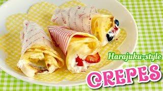 Kawaii Harajuku Crepes (Japanese Street Food Recipe) | OCHIKERON | Create Eat Happy :)