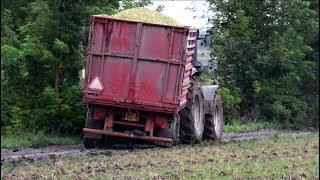 Mokré siláže 2017 | Manipulátor v náhonu | Harvest in mud