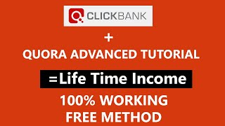 Clickbank and Quora Advanced Tutorial | Promote Clickbank Products on Quora Free Traffic