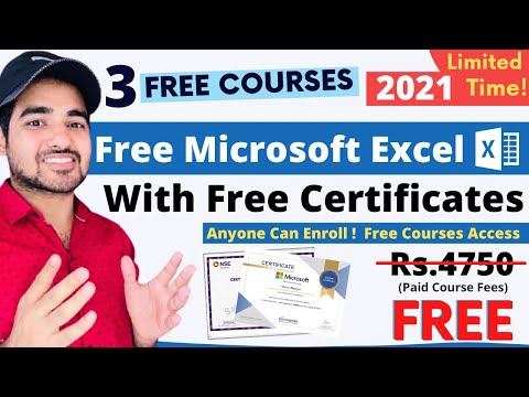3 FREE Certification Courses | Advance Microsoft Excel | Free ...