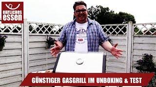 TEST &GUENSTIGER GASGRILL FÜR 280 EURO IM UNBOXING & KURZTEST PLUS VERLOSUNG!