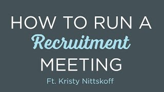 #HRAgainstLame: How To Run A Recruitment Meeting | Episode 10