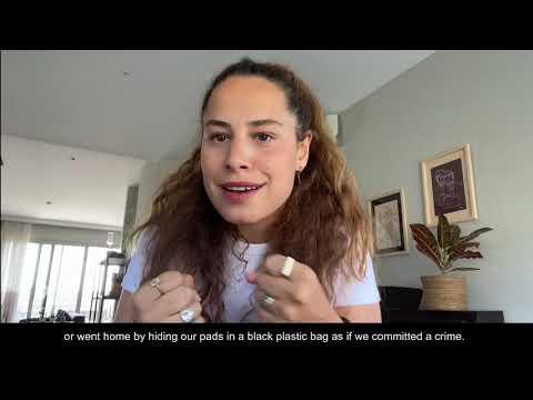 Aslı İnandık's message for Menstrual Hygiene Day